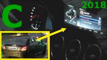 2018 Mercedes C-Class plug-in hybrid facelift screenshot from spy video