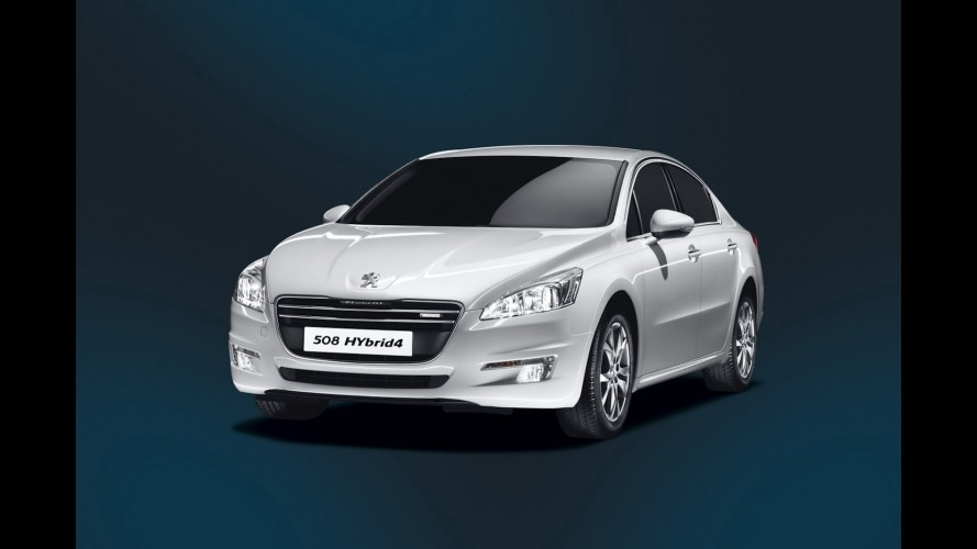 Peugeot apresenta 508 em versão HYbrid4, movido a diesel e a eletricidade
