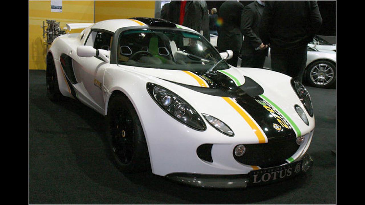 Lotus präsentiert den Exige 270E Trifuel. Das Auto kann Benzin, Ethanol und Methanol tanken