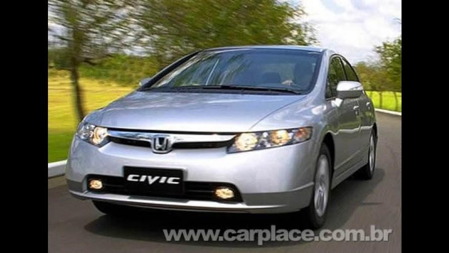 Honda anuncia recall para o Fit e New Civic equipados com motores Flex