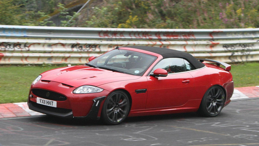 2012 Jaguar XKR-S Cabrio spied undisguised on the ring