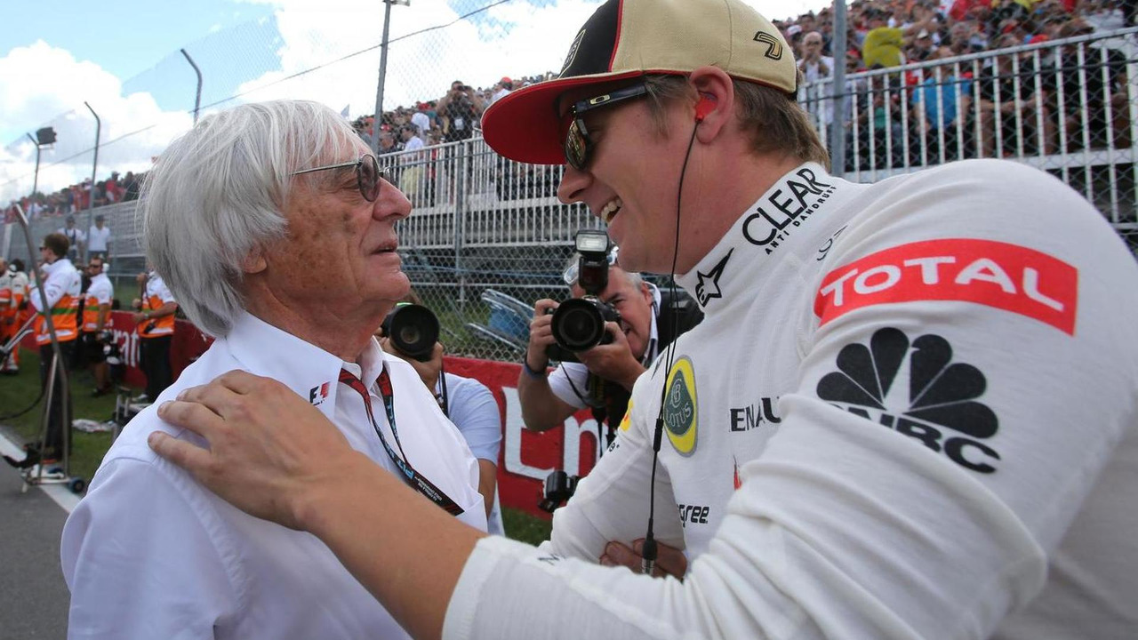 Bernie Eeclestone and Kimi Raikkonen 09.06.2013 Canadian Grand Prix