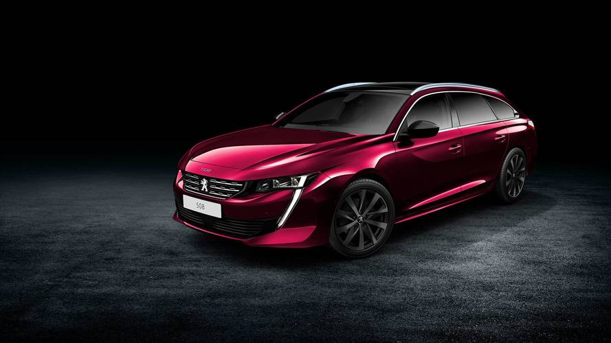 new peugeot 508 is predictably gorgeous in wagon render. Black Bedroom Furniture Sets. Home Design Ideas