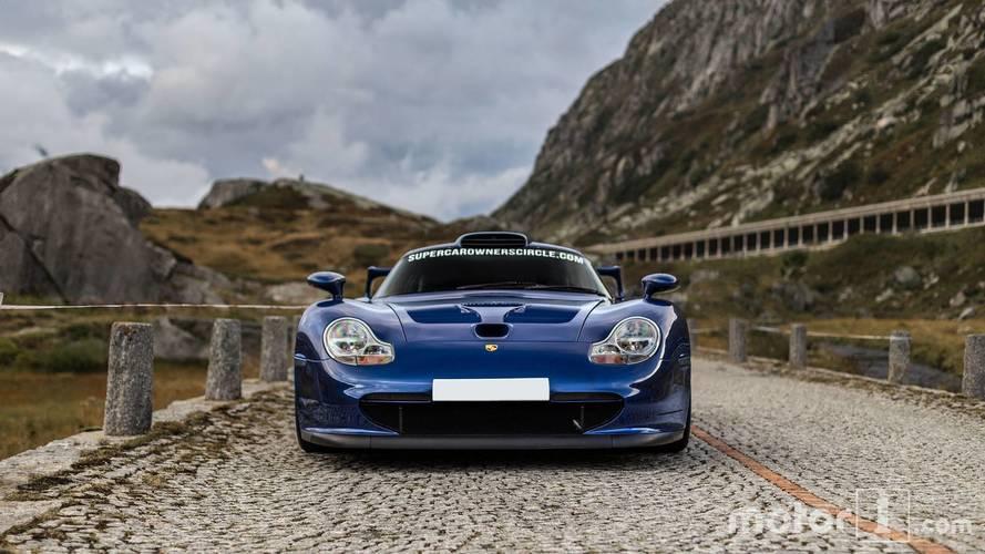 Porsche 911 GT1 in the alps
