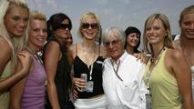 Bernie Ecclestone, GBR with girls - July, Formula 1 World Championship, Rd 13, Hungarian Grand Prix, 31.07.2005 Hungaroring, Hungary