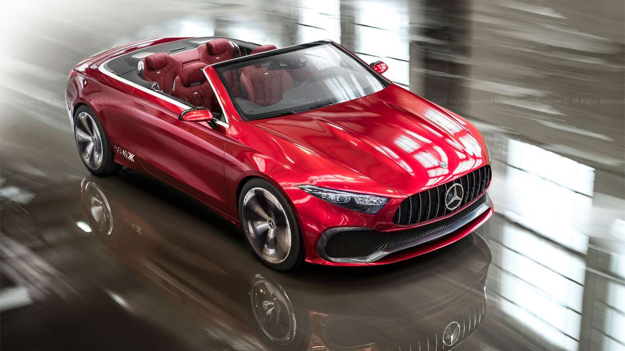 mercedes concept a sedan loses roof rear doors in colorful renders. Black Bedroom Furniture Sets. Home Design Ideas