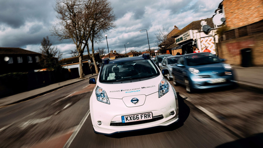Self-driving Nissan Leaf fleet begins testing in London