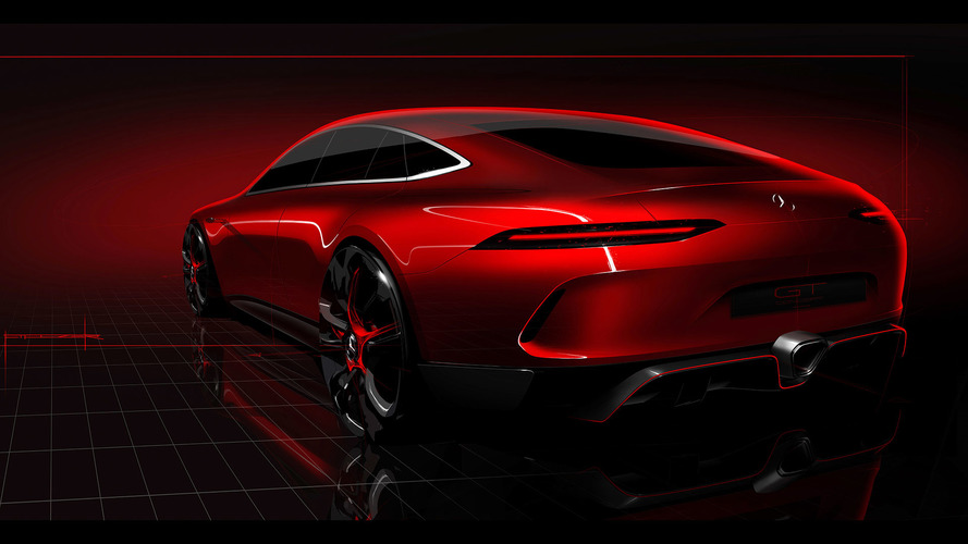 Mercedes-AMG GT Concept teases a four-door sports car