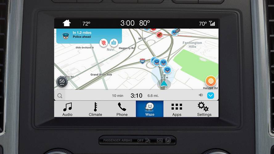 Ford Enables Waze Projection on Cars' Touchscreen