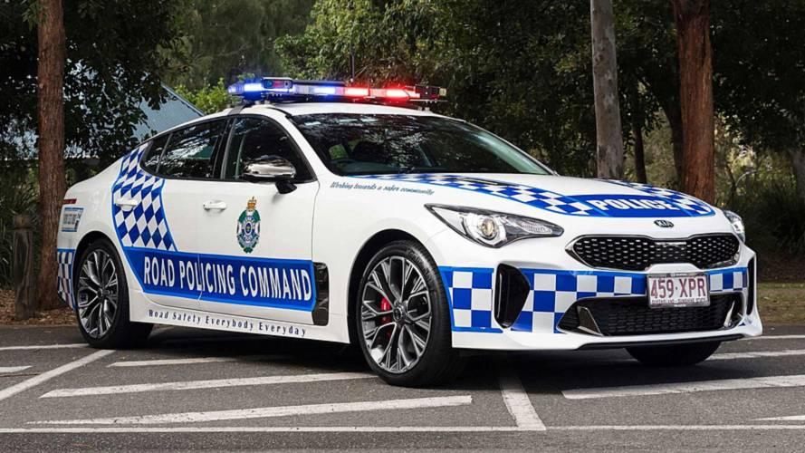 Des Kia Stinger de police sur les routes d'Australie