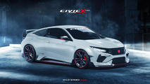 Honda Civic Type R Coupe render