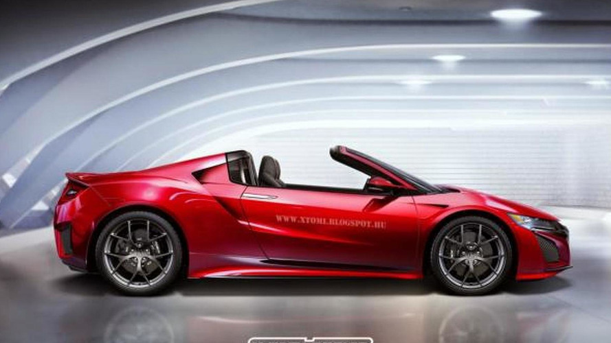 Acura NSX and Ford GT rendered without their roofs