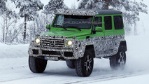 Four-wheel version of Mercedes-Benz G63 AMG 6x6 spied winter testing