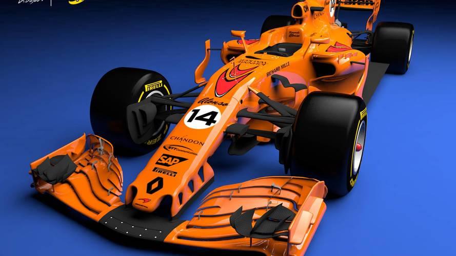 What a papaya orange 2018 McLaren F1 car could look like