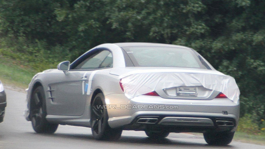 2013 Mercedes Benz SL63 AMG spied practically undisguised