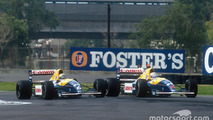 Riccardo Patrese and Nigel Mansell, Williams