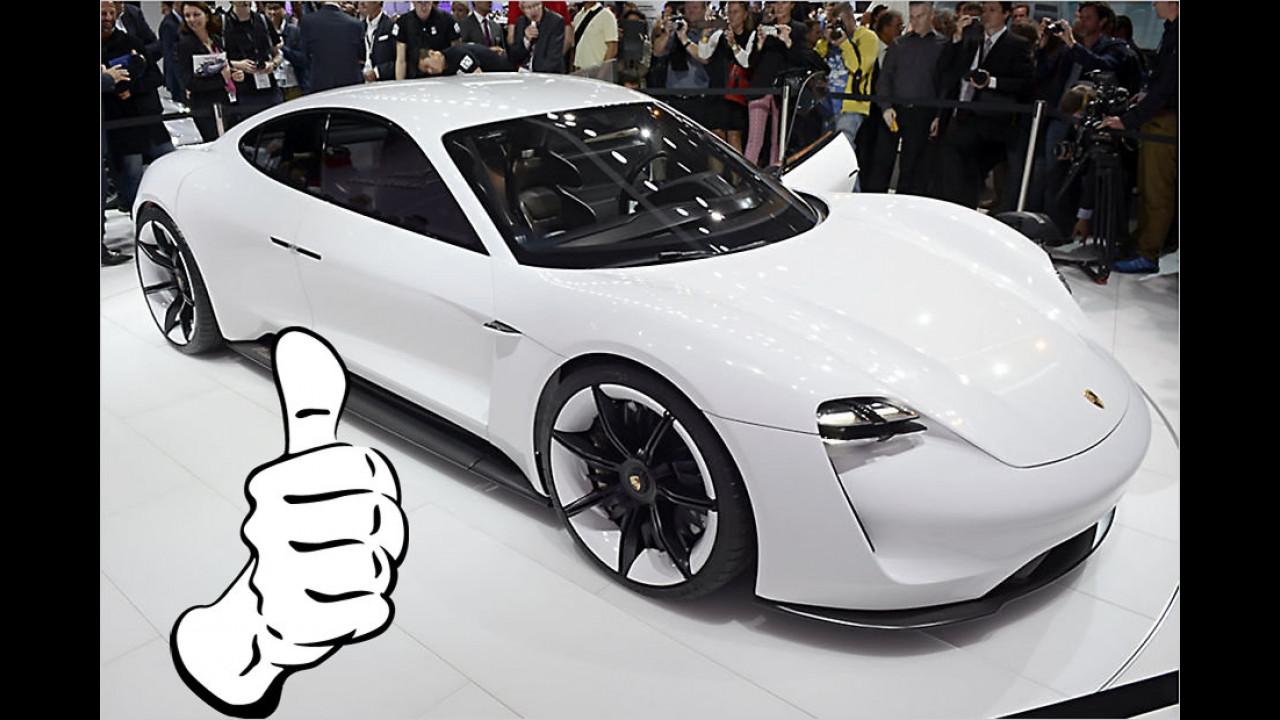 Top: Porsche Mission E