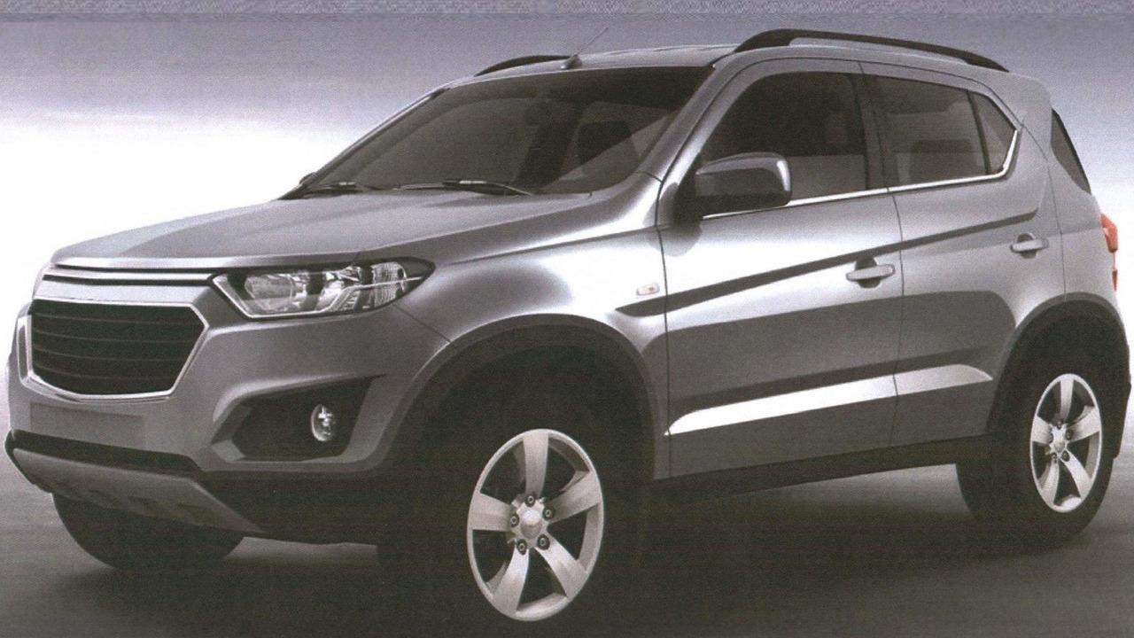 Chevrolet Niva leaked patent image