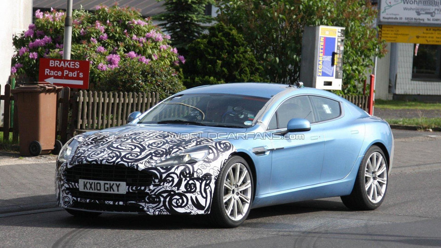 2012/2013 Aston Martin Rapide facelift spied