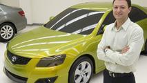 Designer Nick Hogios with Toyota Aurion Concept