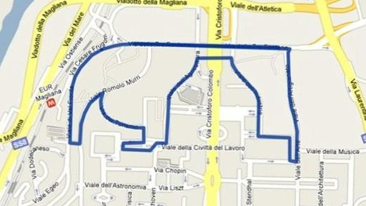 Rome grand prix street race proposed map, 600, 09.03.2010
