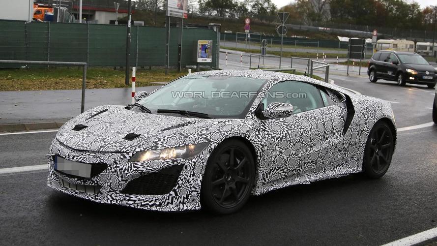 Camouflaged Honda/Acura NSX prototype spied undergoing testing