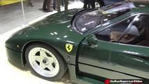 Ferrari F40 with Verde Abetone paint