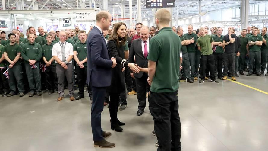Jaguar Land Rover enjoys royal visit