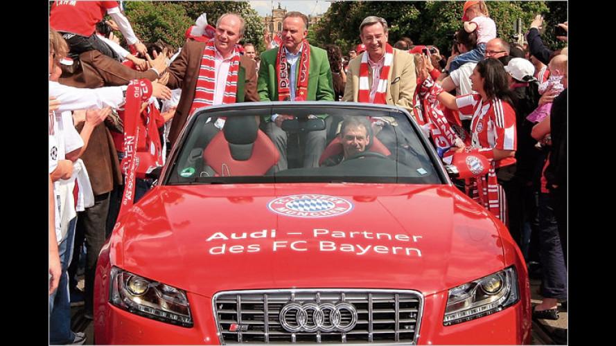 PS-starke Meisterparty: Der FC Bayern feiert mit Audi