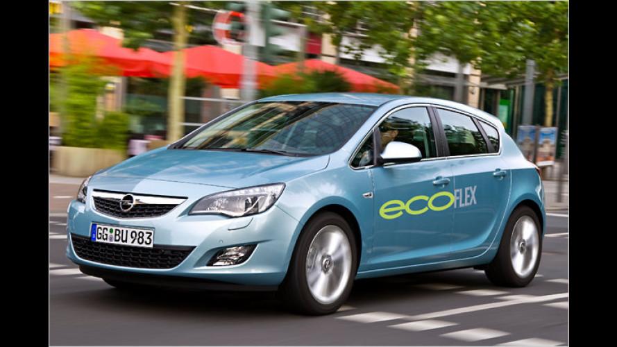 Opel Astra mit 95-PS-Diesel optional mit Start-Stopp-System