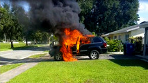 Jeep fire blamed on Samsung Note 7