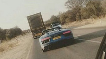 2017 Audi R8 Spyder spied without camouflage