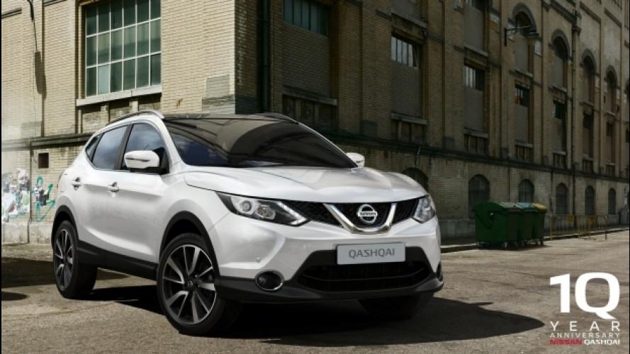 Nissan Qashqai, la promo dei 10 anni di garanzia continua