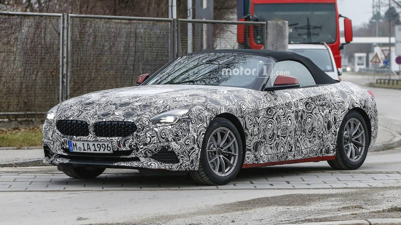 2019 bmw z4 spied with less camo photos. Black Bedroom Furniture Sets. Home Design Ideas