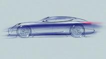 Porsche Panamera Sports Coupe Concept Drawing