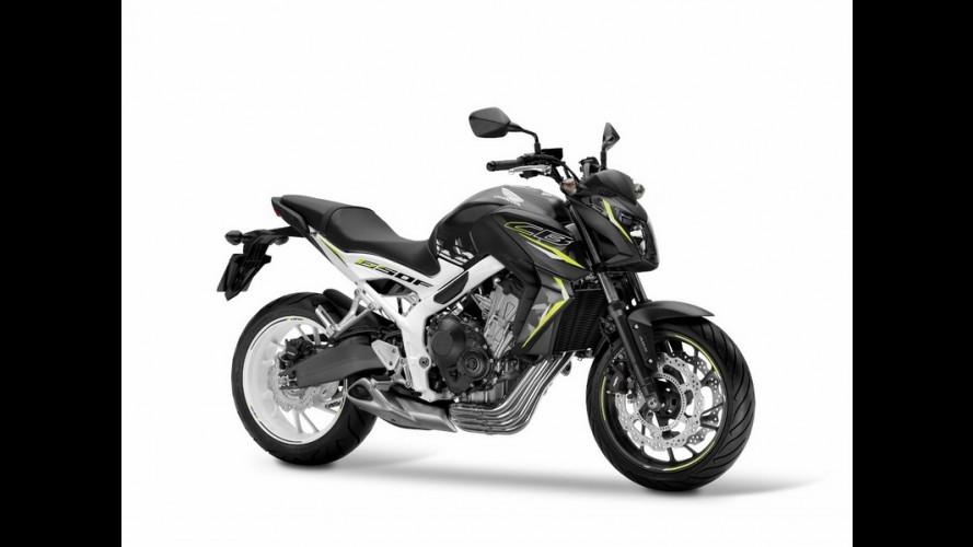Honda mostra linha CB650 com nova pintura e grafismos para a linha 2016