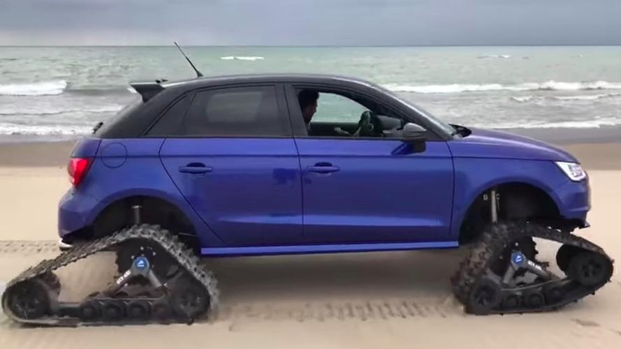 Quand l'Audi S1 reçoit des chenilles…