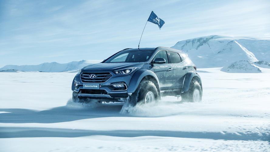 Hyundai Santa Fe Minimally Modified For Antarctic Expedition