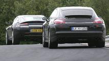 Porsche Panamera Battles Aston Martin Rapide at the Ring
