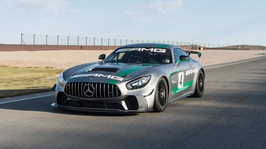 Mercedes-AMG GT4 güçlü görünümlü bir yarış aracı