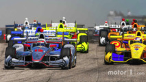 Start- Will Power, Team Penske Chevrolet leads