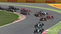 Nico Rosberg leads team mate Lewis Hamilton