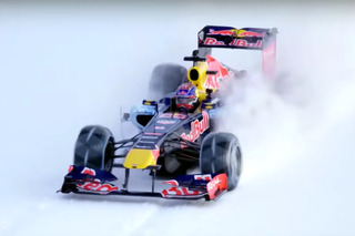 Watch a Red Bull Formula 1 Car Race Up Ski Slopes
