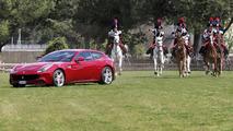 Ferrari FF and the mounted carabinieri regiment 07.5.2012