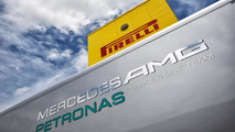 Mercedes AMG Petronas & Pirelli logos