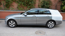 Mercedes-Benz C-Class Estate spied up close
