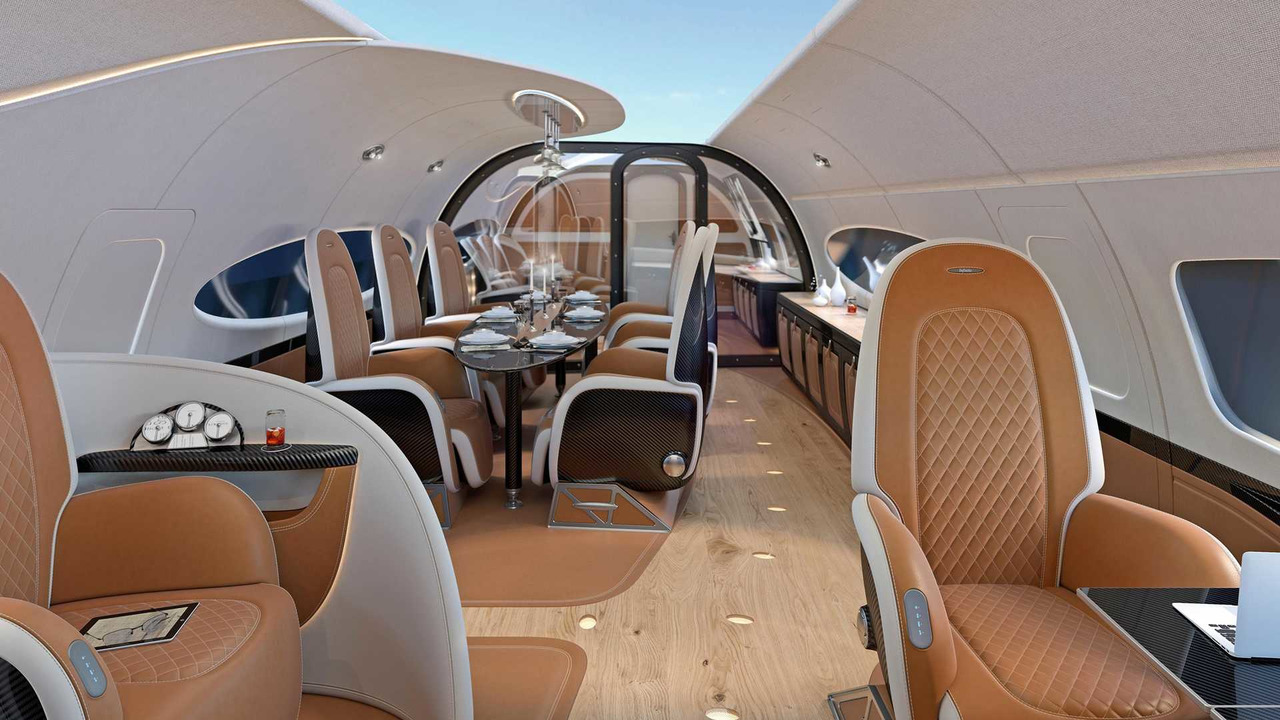 Airbus Pagani jet cabin design