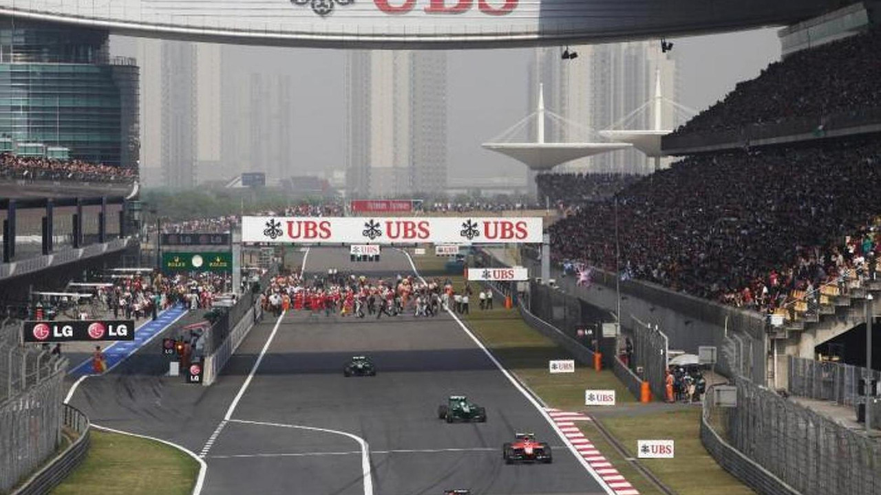 UBS ads at China grand prix / formel1de.com