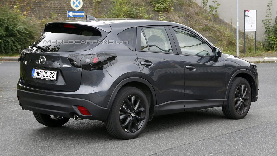 Facelifted Mazda CX-5 spied up close