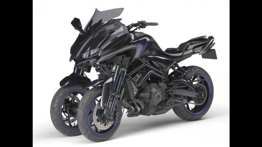 Insólita, Yamaha MT-09 de três rodas deverá ser lançada em 2018